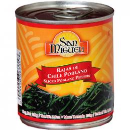 Sliced Poblano Pepper 215 gr