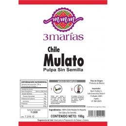 Chile mulato molido chico Tres Marias