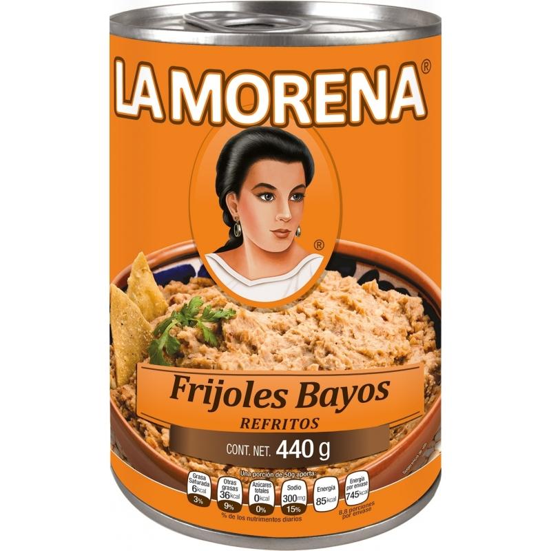 Frijoles bayos refritos La Morena